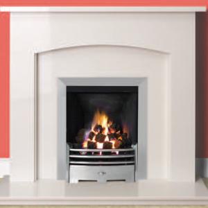 Milborne Micro Marble Fireplace Suite-0