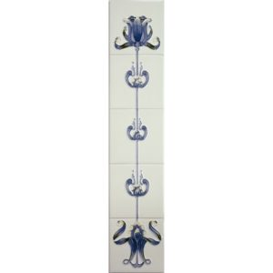 Tulip Blue/Ivory Gallery Fireplaces Tubeline Tiles-0