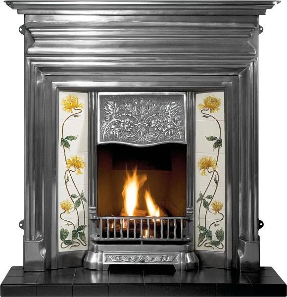 Edwardian Combination Cast Iron Fireplace-0