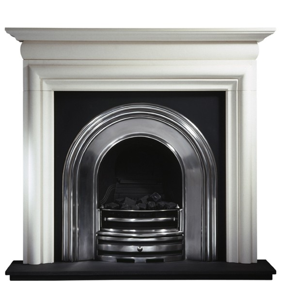 Crown and Asquith Limestone Fireplace-0