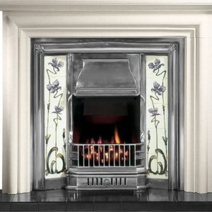 Sovereign Tiled Insert and Modena Limestone Fireplace-0
