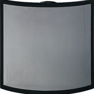 Camber Black Curved Fire Screen-0