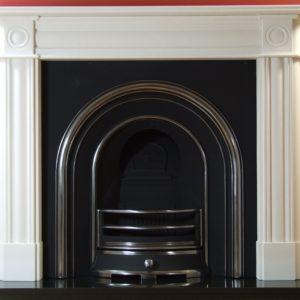 Jubilee and Roundel Limestone Fireplace-0