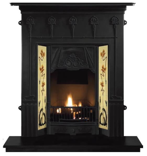 Amsterdam Combination Cast Iron Fireplace-2351