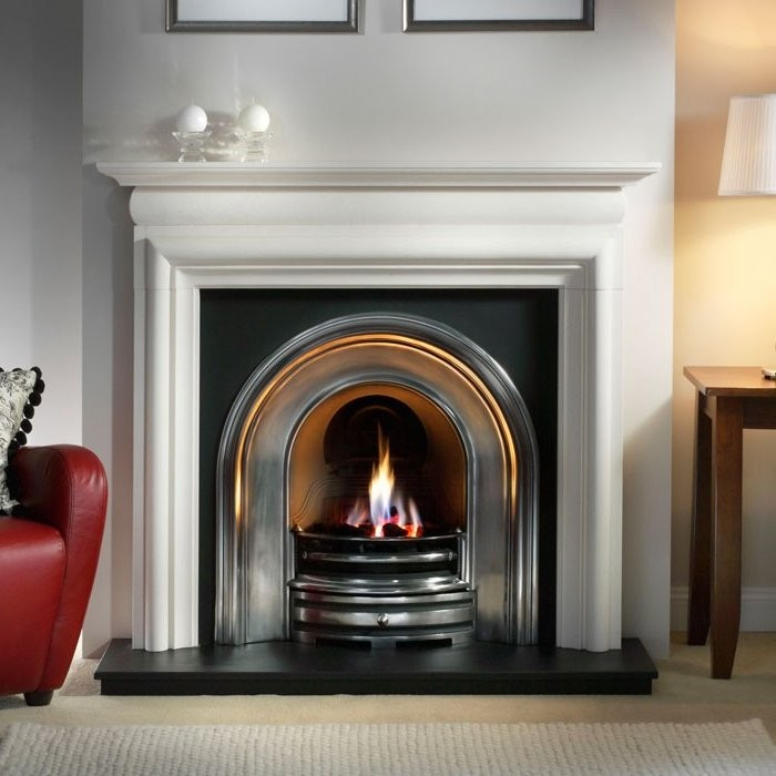 Crown and Asquith Limestone Fireplace-2462