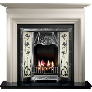 Any Highlighted Insert and Asquith Limestone Fireplace-0