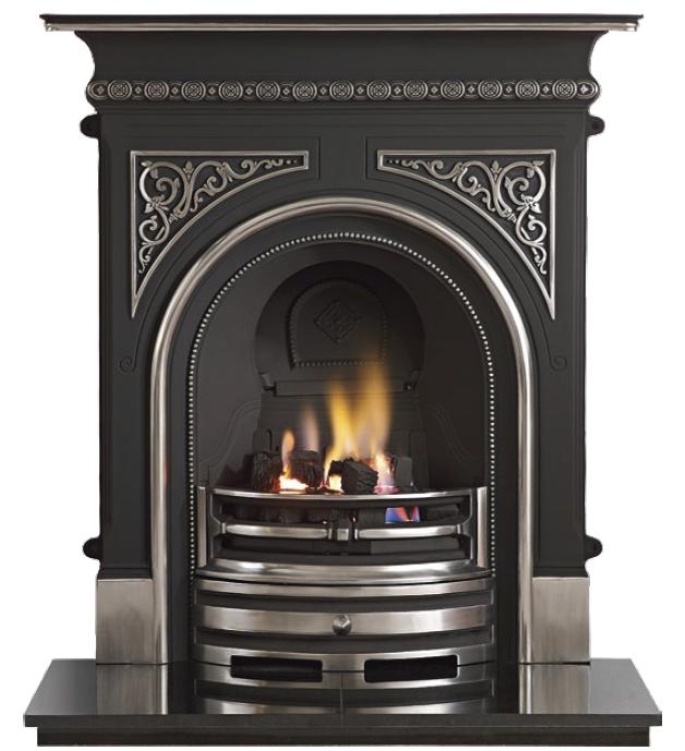 Celtic Cast Iron Fireplace-2335