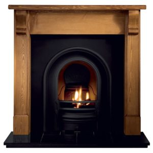 Coronet and Pine Bedford Wooden Fireplace-0
