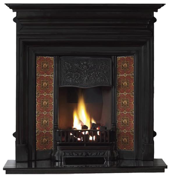 Edwardian Combination Cast Iron Fireplace-2352