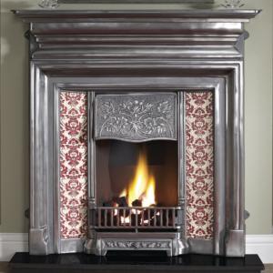 Edwardian Cast Iron Fireplace-0