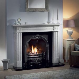 Gloucester and Chiswick Carrara Marble Fireplace-0