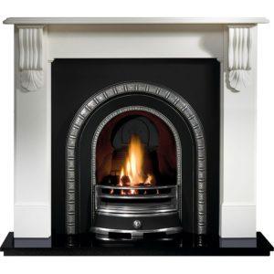 Henley and Kingston Limestone Fireplace-0