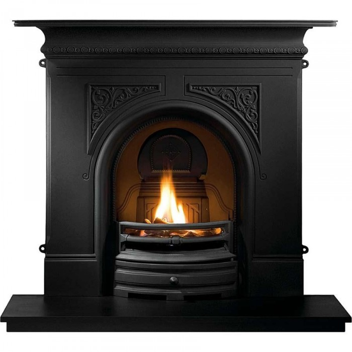 Pembroke Black Cast Iron Fireplace-2437