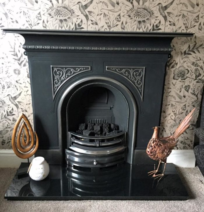 Pembroke Highlighted Cast Iron Fireplace-3571
