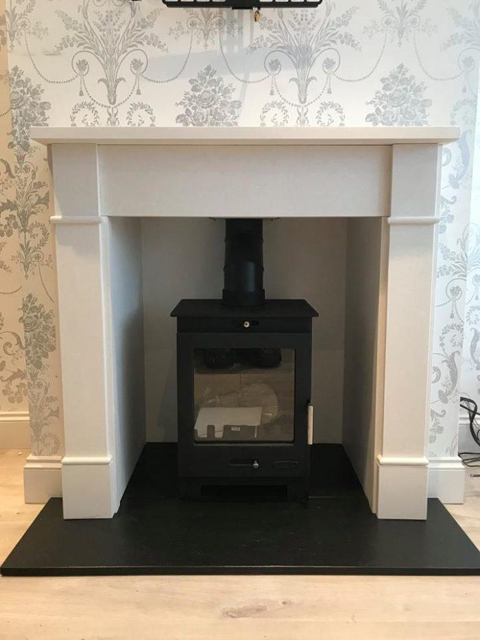 Arundel and Brompton Limestone Stove Suite-0