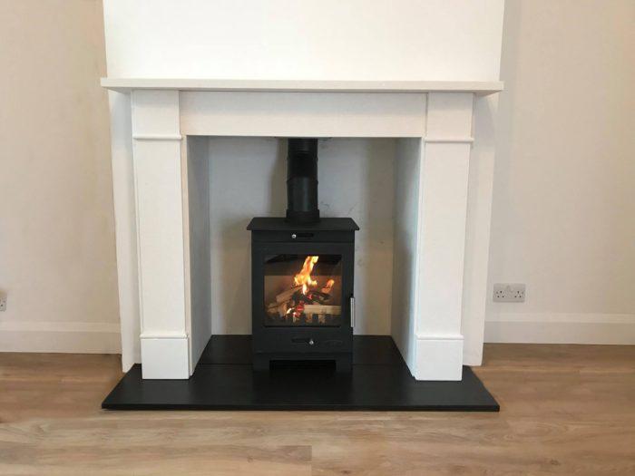 Arundel and Brompton Limestone Stove Suite-3752