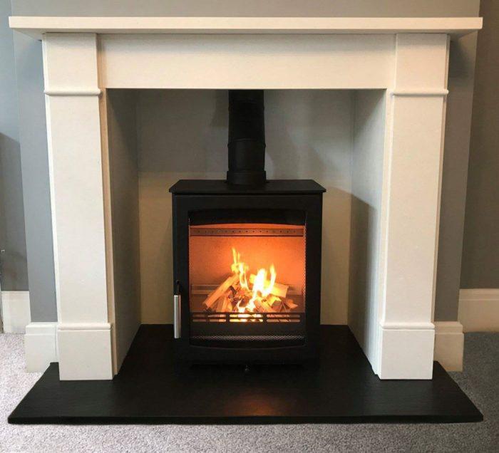 Parkray Aspect 5 Stove Suite Brompton Limestone Mantel-0