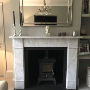 Firefox Stove Suite Flat Victorian Marble Mantel-0