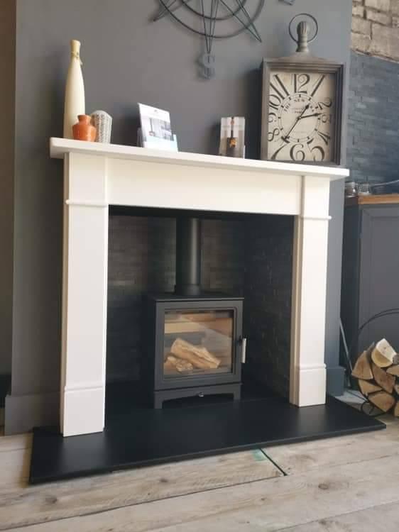 Grisedale Wood Burning Stove Suite Brompton Limestone Mantel-0